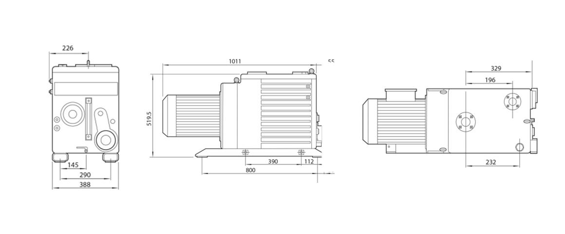 E2M175双级旋片真空泵