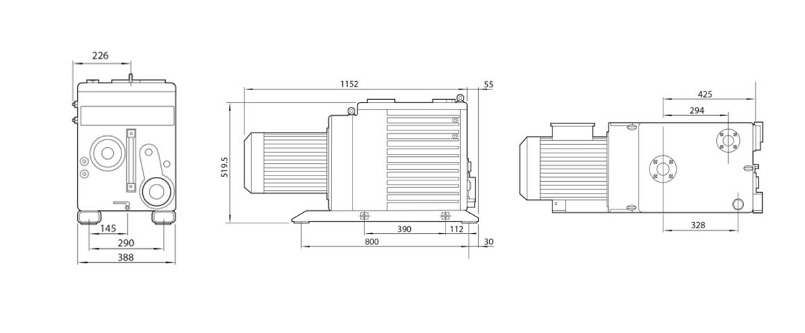 E2M275双级旋片真空泵